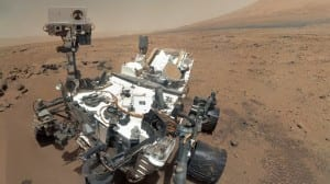 A Self-portrait of Curiosity taken when first arriving on Mars. Image Credit: NASA/JPL-Caltech/Malin Space Science Systems
