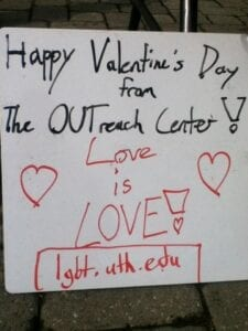 The Outreach Center shared this message for students and employees of UT. Alyssa White/TNJN