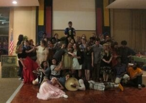Students pose with their shabby chic prom outfits. Danyell Luster/ TNJN