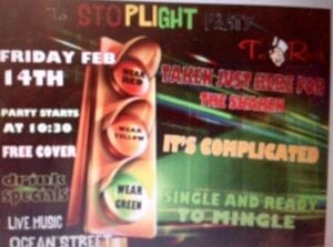 Tin Roof's Stop Light Party happening again this Valentine's Day