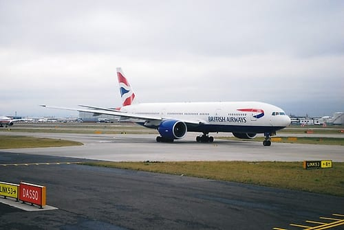 Malaysia Airlines flight 370 was a Boeing 777, similar to the one in the image above.