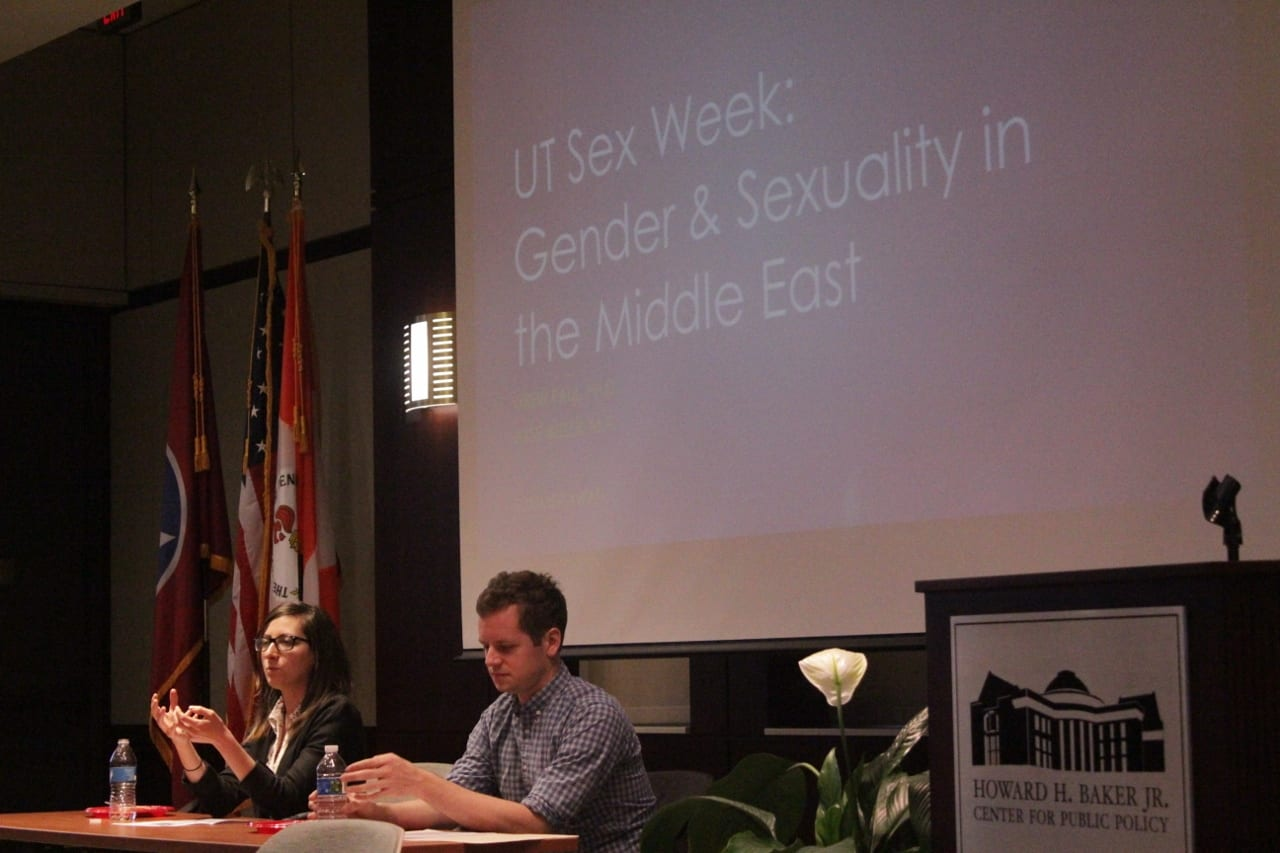 Ayse Ikizler and Drew Paul spoke about Gender and Sexuality in the Middle East. TNJN/Alyssa White