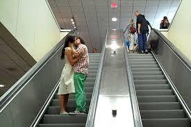 Prague kissy escalator