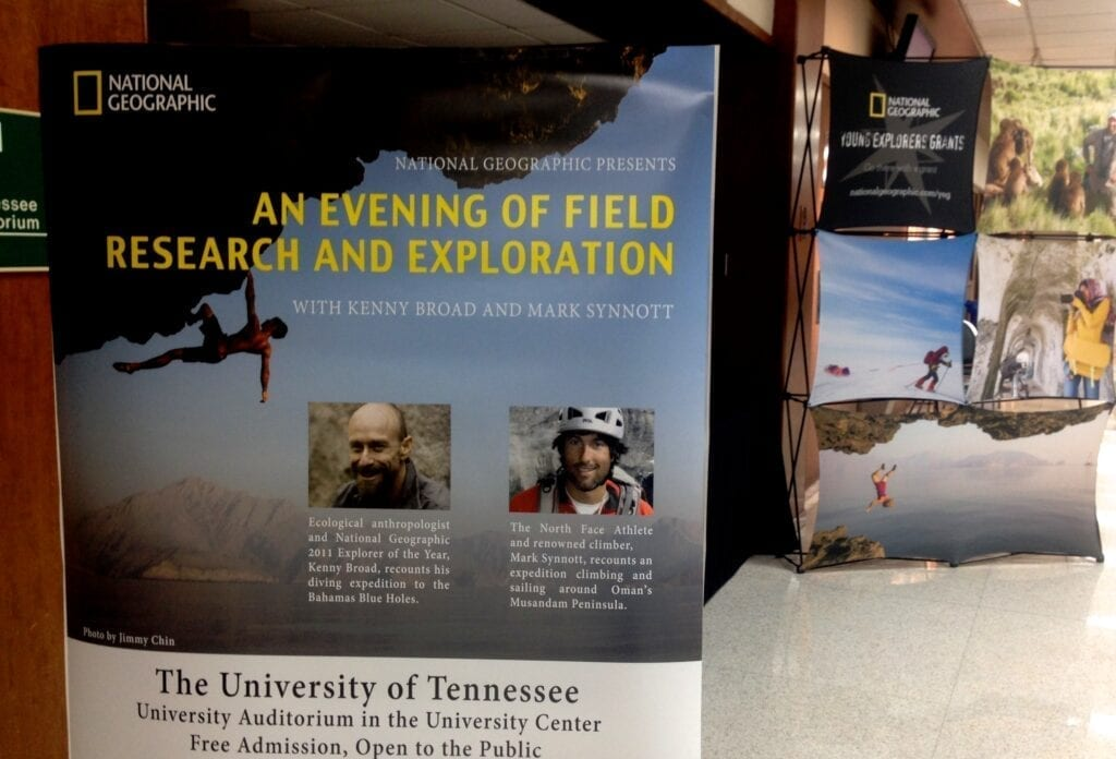 UT hosted two National Geographic explorers on Saturday.