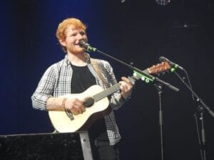 Ed Sheeran serenades the crowd during his X tour in Nashville.