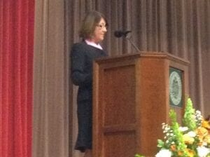 Janice McKinley, chief nursing officer at Covenant Health, delivers keynote speech.