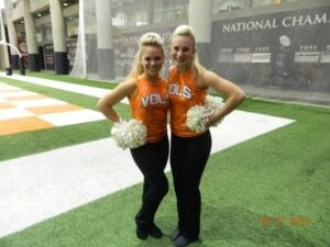 Sierra Williams (left), Kalee Simpson-Members of UT Dance Team