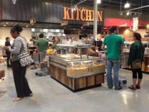 Whole Foods draws in a big crowd during its first weekend open to the public. Taylor Owens/TNJN