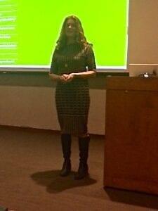"Nina-Marie Lister introducing her presentation ""Ecological Design: Resilience Beyond Rhetoric."""