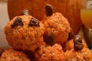 Create a fun pumpkin shape for these pumpkin marshmallow treats.//Photo by Katy Hill