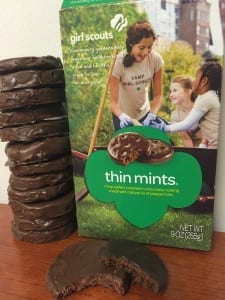 The homemade Thin Mints are a little thicker than the original version, but they still have that familiar mint and chocolate taste. //Photo by Alley Loope