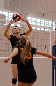 UT's club volleyball practices get pretty intense come tournament time // Photo courtesy of Lana Bednarczyk