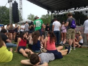 A group of students wait for Volapalooza to begin. //Photo by Taylor Owens