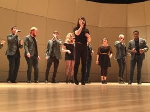 Featured soloist Nicole Doyal performs with UT Singers