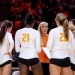 The Lady Vols drop road game at No. 25 Missouri in four sets