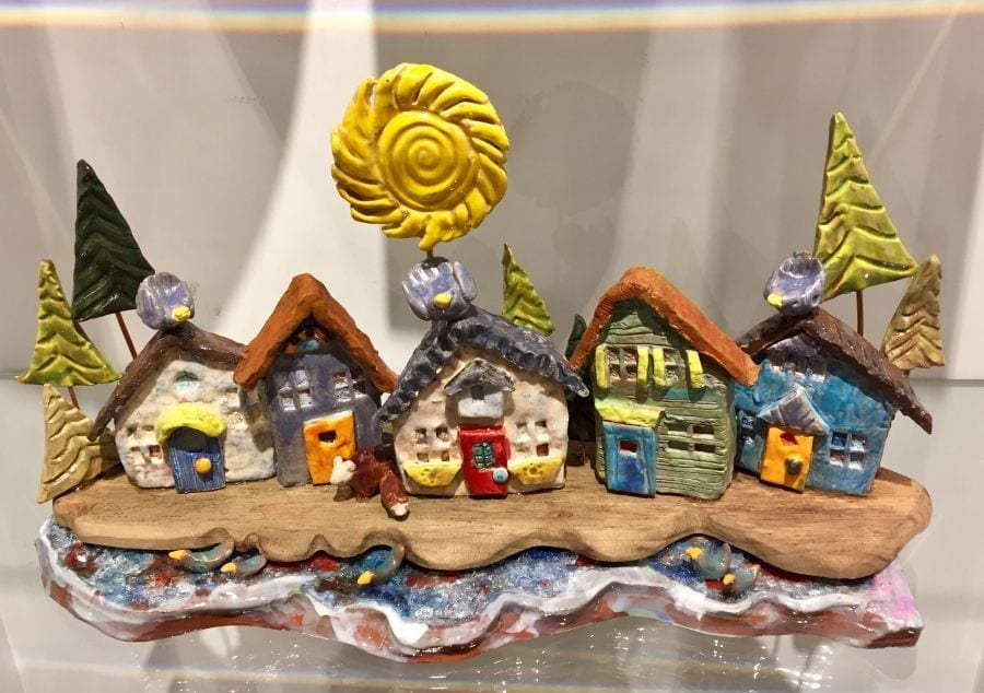 A clay creation created by Karen Kyte showcased at the Art Market Gallery. Photo/Art Market Gallery