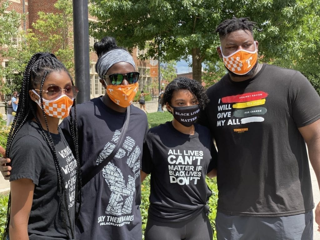 Vol athletes march for justice Aug. 29