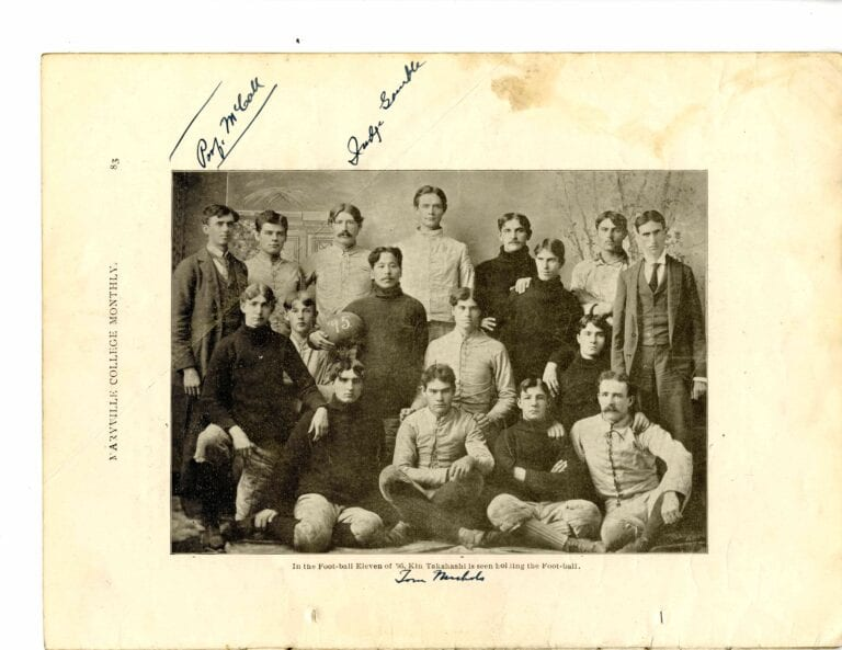 The Maryville College football team in 1895. (Courtesy of Maryville College Archives)